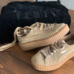 Shoes - Oatmeal fenty sneakers